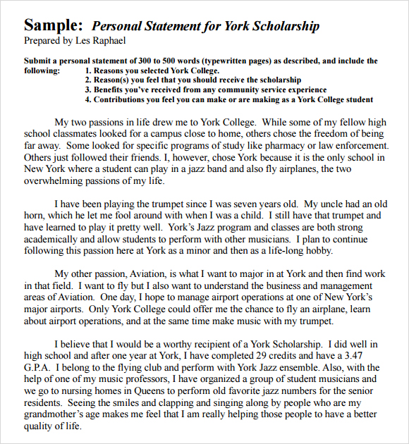 Examples Of Personal Statements For Graduate School  Template Business