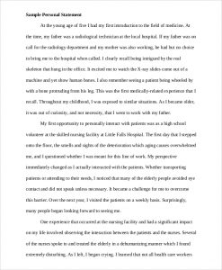 examples of personal statements for graduate school sample personal statement for college