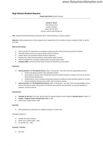 examples of resumes for high school students resume academic qualifications top resume example for high school with job resume examples for high school students