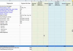 excel bill tracker monthly bill payment tracker