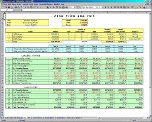 excel cash flow template cfa
