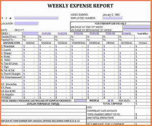 excel expense report excel report template weekly expense sheet
