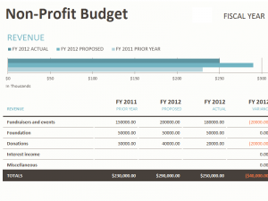 excel expense report template non profit budget w fundraising