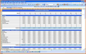 excel expenses report monthly spending spreadsheet household expenses