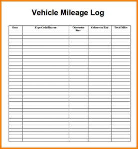 excel mileage log mileage log sheet mileage log template pdf