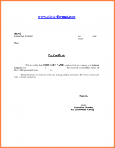 excel pay stub template format for salary certificate format for salary certificate salary certificate letter sample