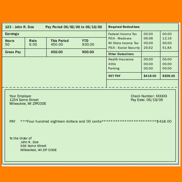 Excel Pay Stub Template Template Business