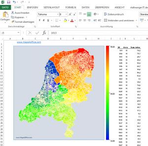 excel reporting template excel nl netherlands postcode vlakken pc