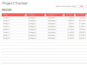 excel task tracker template excel project tracking template