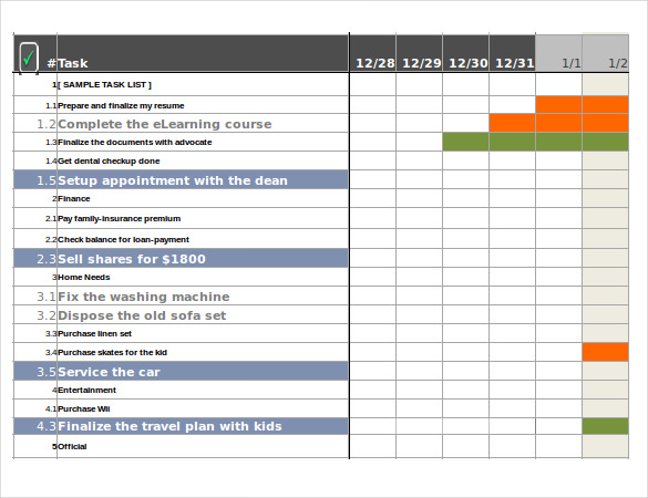 monthly task list template excel - excel task tracker template template business