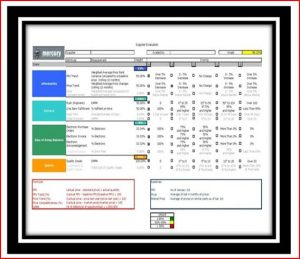 excel time card template supplier scorecard