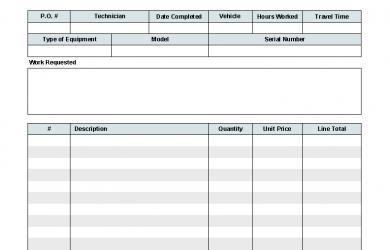 excel work order template work order template printed
