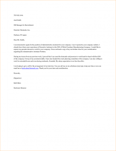 executive resume template admin assistant cover letter example