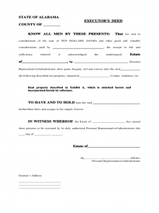 executive resume template executors deed alabama d