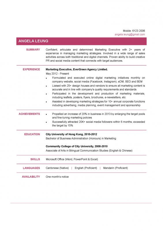 executive resume templates