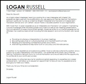 executive resume templates interpreter