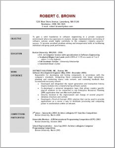 executive resume templates objective for resumes resume template resumes objectives for pertaining to job resume outline