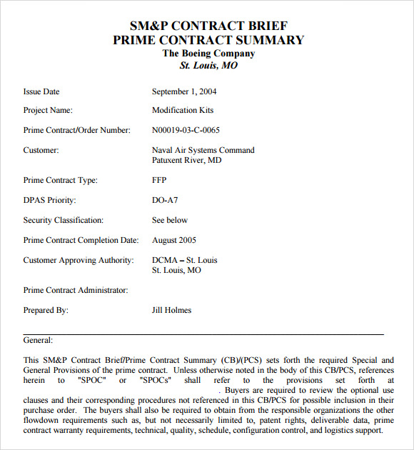 Executive Summary Format Example  Template Business