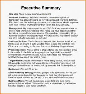 executive summary sample executive summary word template