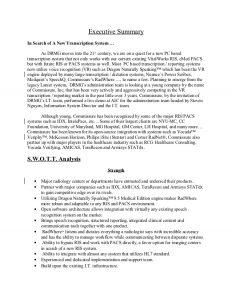 executive summary sample sample executive summary