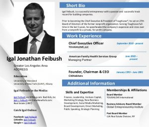 executive summary samples career profile igal jonathan feibush