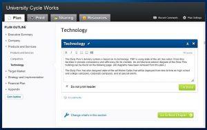 executive summary samples liveplan editing options