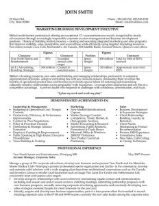 executive summary template doc business development executive resume template premium resume