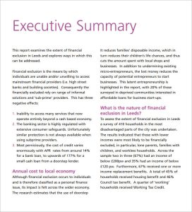 executive summary template doc executive summery pdf