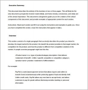 executive summary template executive summary template word doc download