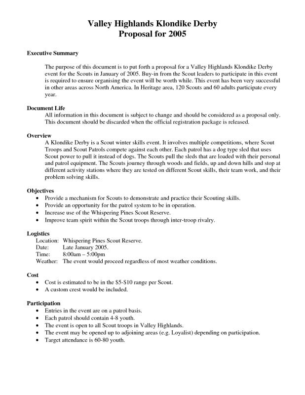 Executive Summary Template For Proposal  Executive Summary Proposal Template