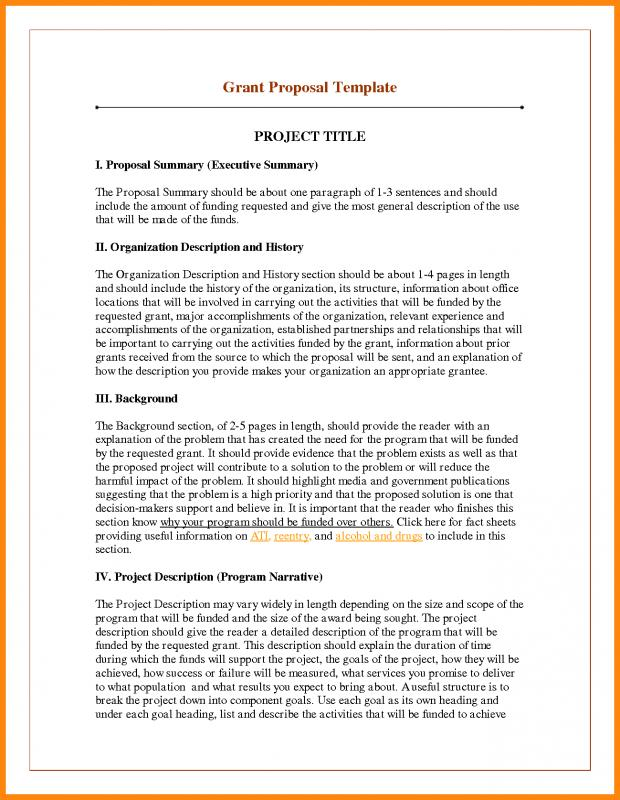 Executive Summary Template For Proposal  Template Business