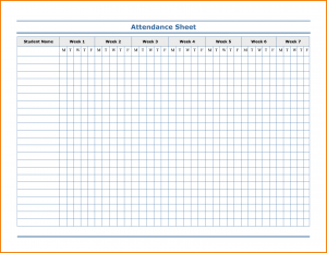 expense report template excel attendance sheet template