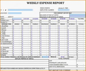 expense report template excel expense tracker template weekly expense sheet