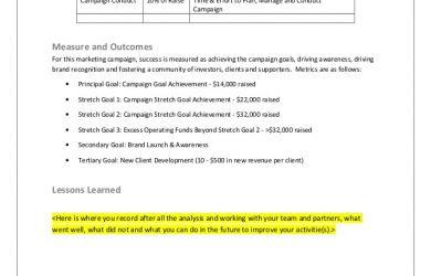 facebook business page template crowdfunding marketing plan brick mortar retail template