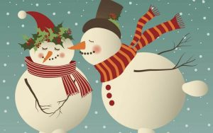 facebook business page template kissing snowman e x