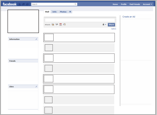 facebook page template