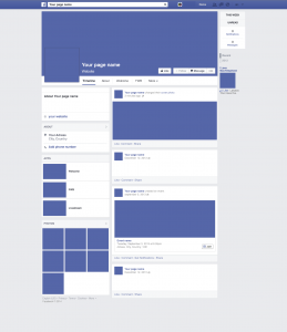 facebook page template facebook template vector