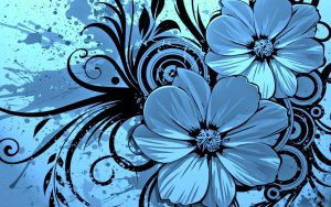 facebook page templates blue floral