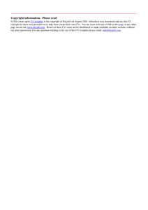 facebook template pdf estate agent cv