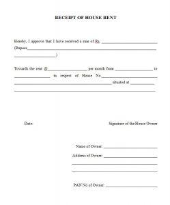 facebook template pdf rent receipt