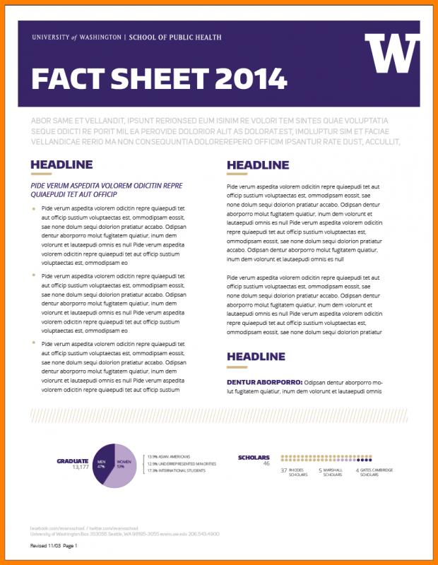 fact sheet design