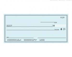 fake check template blank blue check
