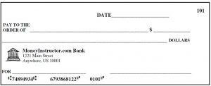 fake check template single check template