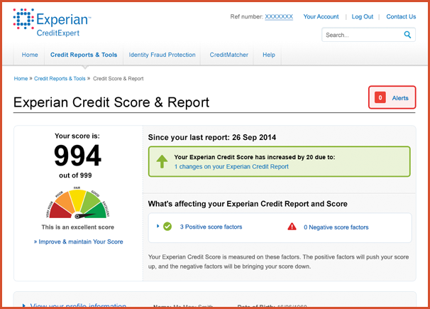 fake credit report template pdf