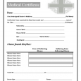 fake doctors note for work medical certificate template