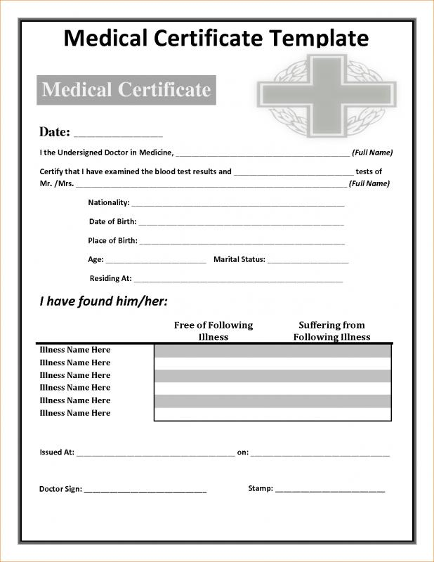 Fake Doctors Note Template | Template Business