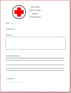 fake doctors note template free fake doctors note template download