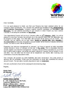 fake job offer emails wipro