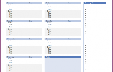 family budget spreadsheet meal plan spreadsheet weekly meal planning template