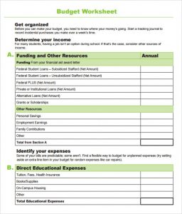 family budget spreadsheet school budget worksheet template